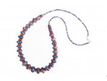 kolok.ro-Colier ATLANTIC cu lapis lazuli și coral-KDK524-20