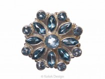 kolok.ro-Inel argint 925 stil oriental cu pietre de topaz albastru 7-KDP104-20
