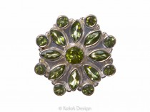 kolok.ro-Inel argint 925 stil oriental cu pietre mici de peridot-KONFI60-20