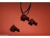 kolok.ro-Pandantiv din goldstone maro în formă de delfin-KD15931-20