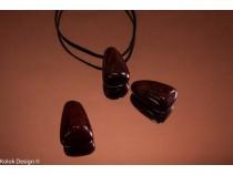kolok.ro-Pandantiv jasp breciat din piatră găurită-KD15994-20