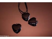 kolok.ro-Pandantiv din hematit în formă de inimă cu diametru de 25 mm-KD1607-20