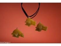 kolok.ro-Pandantiv din jad în formă de delfin-KD1593-20