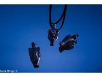 kolok.ro-Pandantiv din lapis lazuli în formă de îngeras-KD1588-20