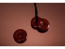 kolok.ro-Pandantiv donut din jasp roșu, cu diametru de 30 mm-KD1596-20