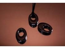 kolok.ro-Pandantiv donut oval din hematit.-KD1601-20