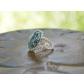 kolok.ro-Inel handmade cu turcoaz și sârmă argintată-KDH12-00