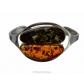kolok.ro-Brățară lux din argint cu pietre de chihlimbar natural-KDE036-00