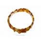 kolok.ro-Brățară cu mărgele prisme din chihlimbar coniac și miere,18-KDX072-00