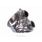 kolok.ro-Inel oriental din argint cu două pietre picătură de onix-KONFI78-00