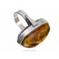 kolok.ro-Inel argint unicat cu piatră de chihlimbar miere autentic,7-KDUK103-00