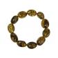 kolok.ro-Brățară elastică din chihlimbar verde cu mărgele ovale-KONFB01-00