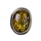 kolok.ro-Inel unicat argint 925 cu piatră ovală de chihlimbar verde,8-KDUK119-00