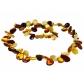 kolok.ro-Colier zig-zag din chihlimbar baltic cu mărgele multicolor-KDX026-00