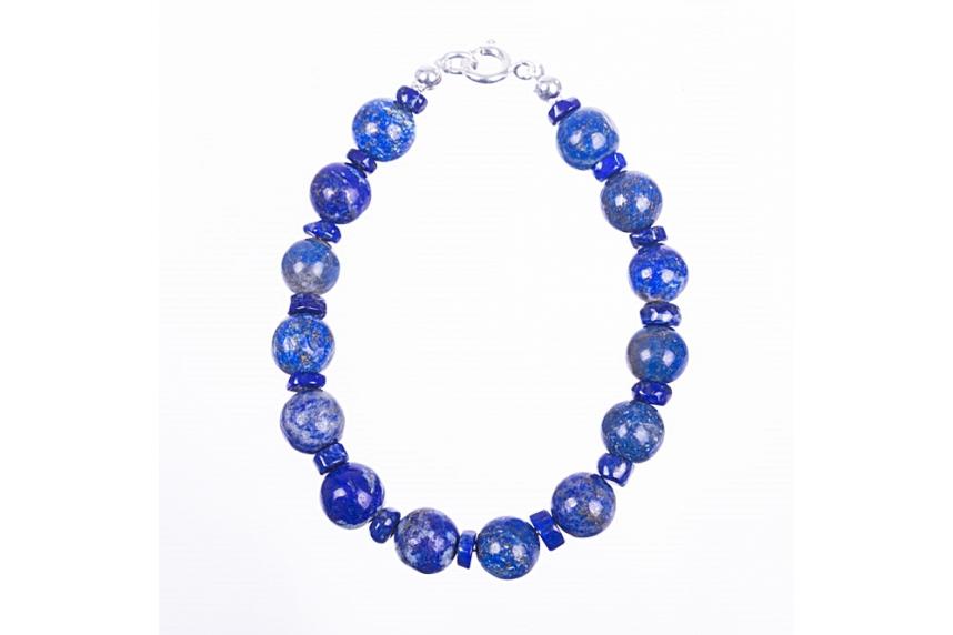 kolok.ro-Brățară lapis lazuli cu argint 925-KDK504-00
