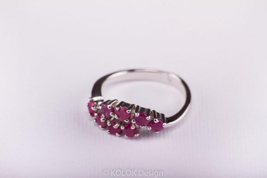 kolok.ro-Inel din argint cu pietricele de rubin, marime 7-KDI431-00