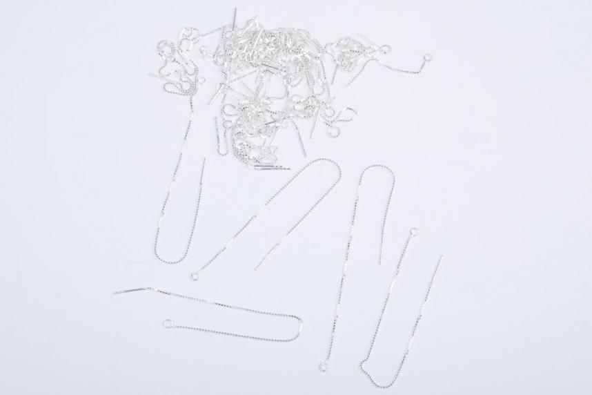 kolok.ro-Tortițe lungi din argint cu lănțișor 925-KDA95-00