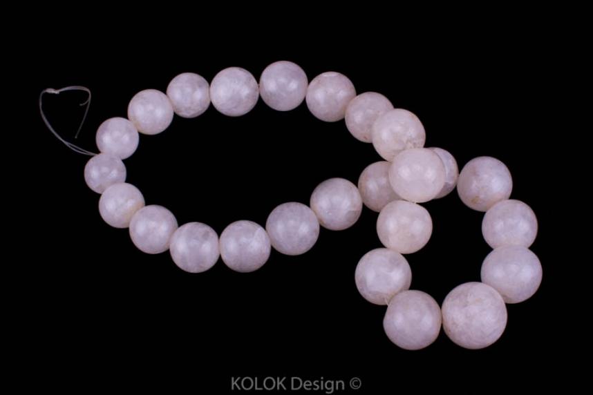 kolok.ro-Mărgele la șirag din jad alb rotund, 14-18 mm-KDS177-01