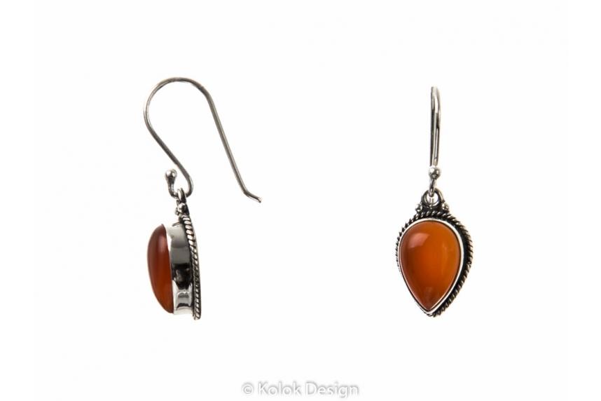 kolok.ro-Set de bijuterii vintage din argint cu pietre de carneol-KDP191-00